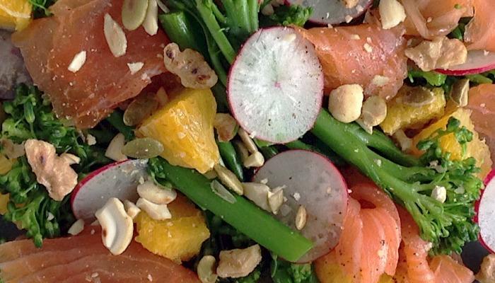 bimi salmon salad recipe