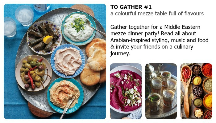 gather together mezze dinner part ideas