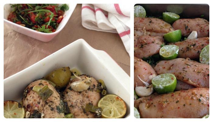 oven chicken fresh herbs
