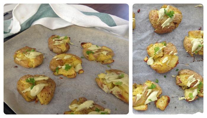 knapperige geplette aardappels recept
