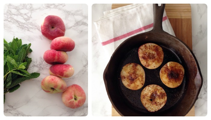 Sophie Dahl Cinnamon roast peaches with vanilla yogurt