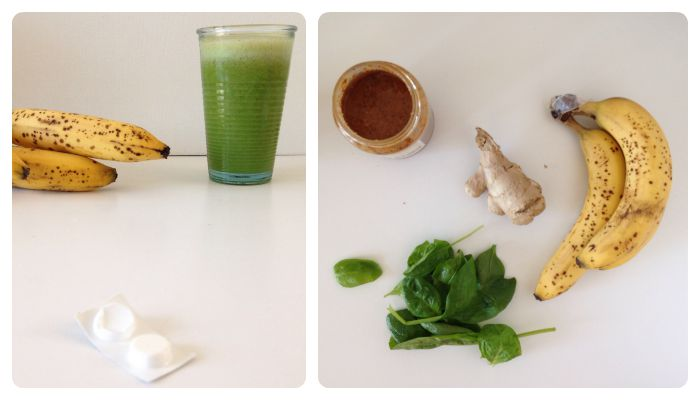 recipe anti hangover smoothie banana spinach