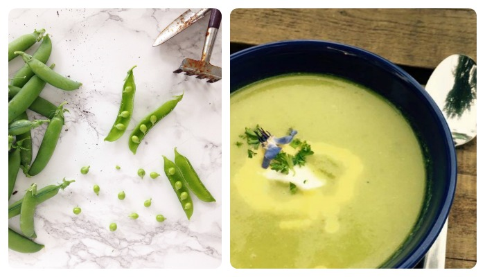 pea soup recipe with orange dressing