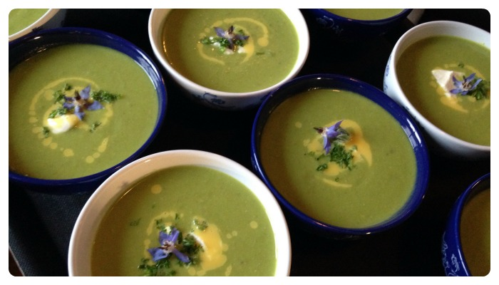 recipe pea soup orange dressing