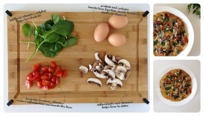 kater recept frittata omelet