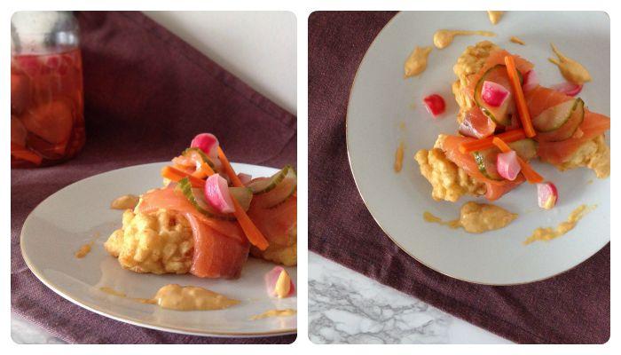 Recipe salmon celeriac fritter Ikea Food Challenge